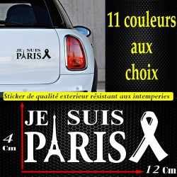 Sticker autocollant je suis paris pray for paris