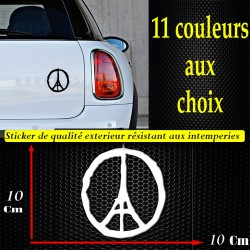 Sticker autocollant peace paris preace for paris  je suis paris pray for paris