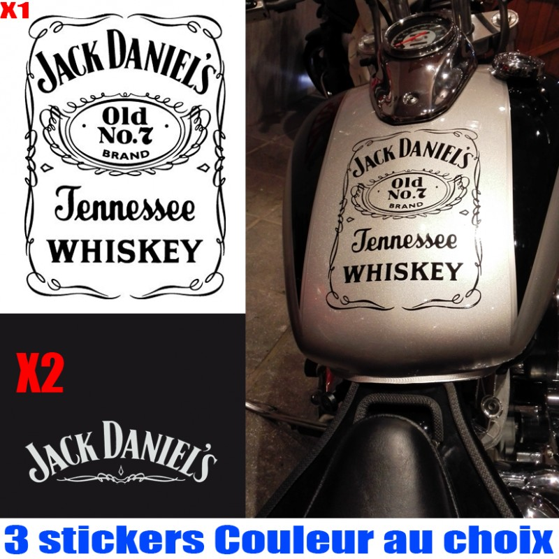 Lot de 3 stickers jack daniel 39 s pour reservoir et casque for Meuble jack daniels