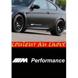 lot de 2 stickers autocollant BMW M Performance