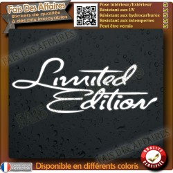 sticker autocollant tuning limited édition