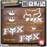 6 Stickers Autocollants Fox Racing Adhésifs Sponsor Marques Moto Voiture Auto
