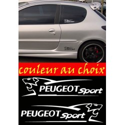 lot de 2 stickers Peugeot Sport