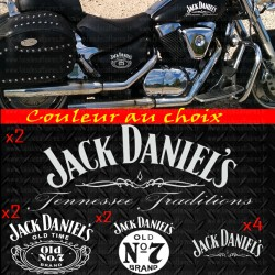 kit 10 stickers autocollant déco moto sticker Jack Daniel's old