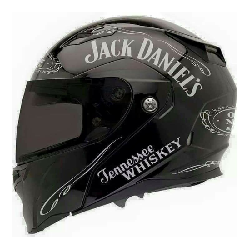 12 stickers autocollant deco casque moto jack daniel 39 s old. Black Bedroom Furniture Sets. Home Design Ideas