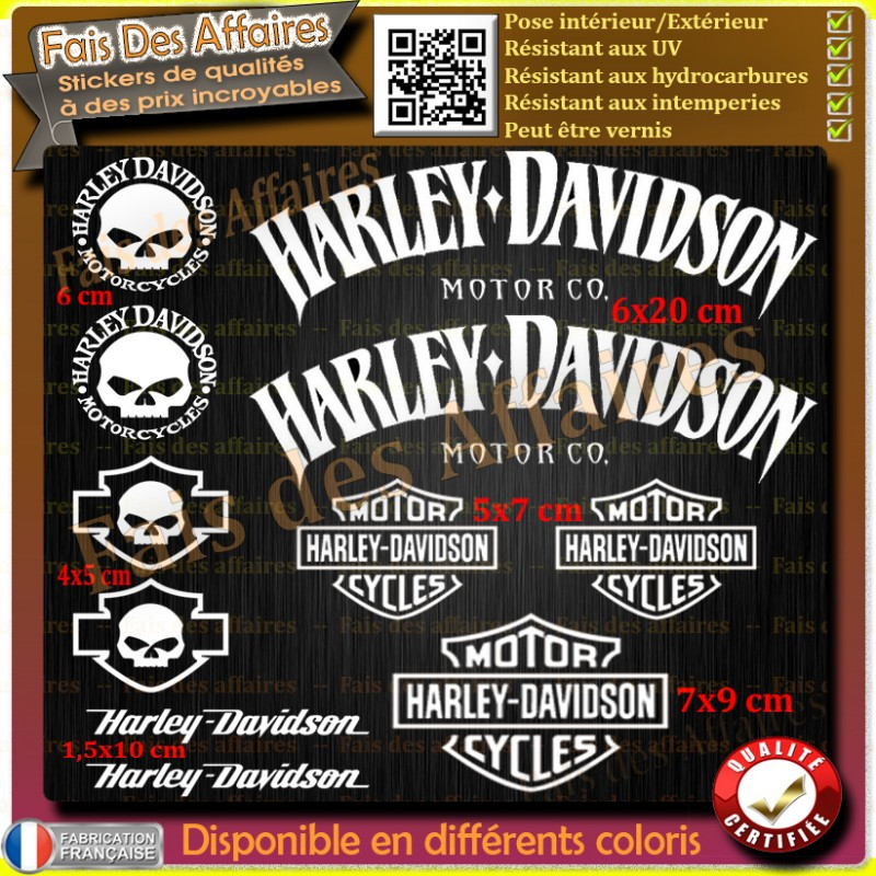 11 stickers autocollant harley davidson skull sportster iron r servoir casque fais des. Black Bedroom Furniture Sets. Home Design Ideas
