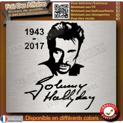 sticker johnny hallyday rip autocollant hommage johnny