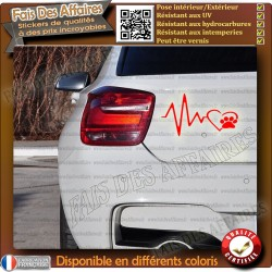 sticker patte de chat coeur