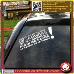 Sticker autocollant citation humour