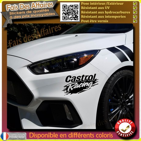 sticker autocollant castrol racing sponsor tuning