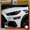 sticker autocollant NOS racing sponsor tuning