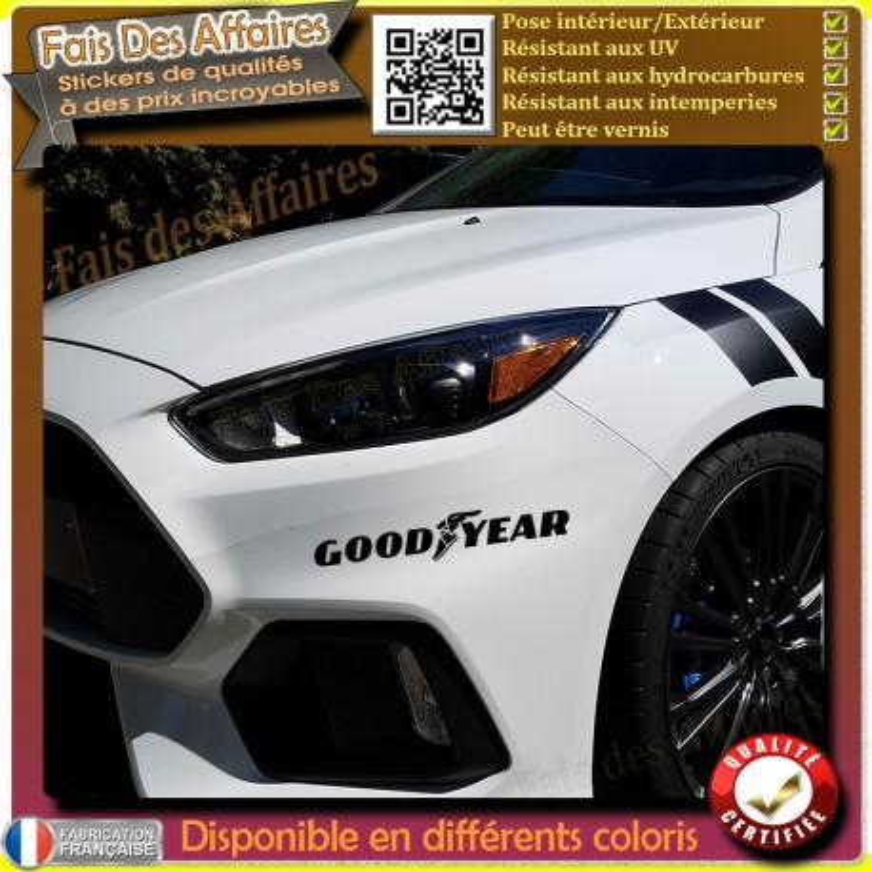 sticker autocollant Goodyear sponsor tuning