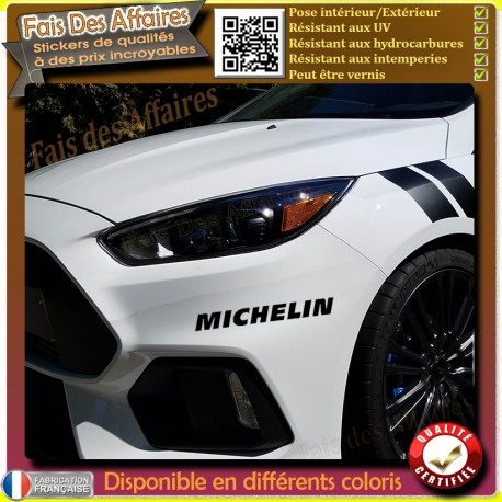 sticker autocollant Michelin sponsor tuning