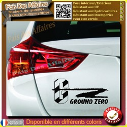 sticker autocollant ground zero