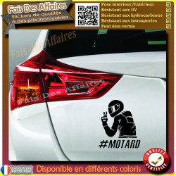 sticker autocollant Motard à bord biker a bord decal motard hashtag motard