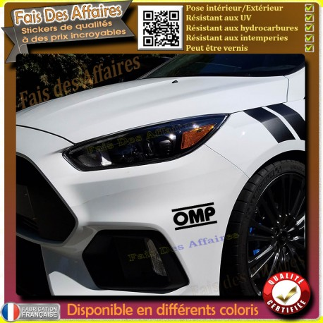 sticker Autocollant OMP rallye tuning deco voiture decal