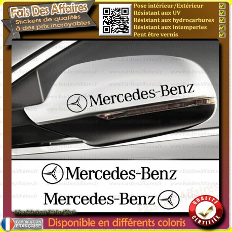 2 Stickers Autocollant mercedes benz retroviseur