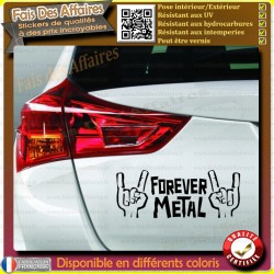 Sticker Autocollant Meta forever cornes slayer megadeth acdc music musique hard