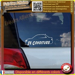 Stickers Autocollant covoiturage je covoiture avec roulezmalin BlaBlaCar iDVROOM