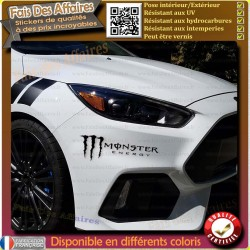 2 Stickers Autocollant Monster energy sponsor rallye racing