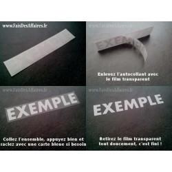 2 Stickers Autocollant punisher rétro réfléchissants casque moto