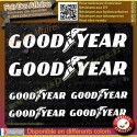 6 Stickers Autocollant Goodyear sponsor rallye tuning