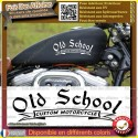 2 stickers autocollant old school custom motorcycle