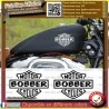 2 stickers autocollant bobber motorcycle