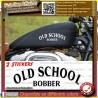 2 stickers autocollant old school bobber motorcycle