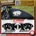 2 stickers autocollant bobber motorcycle old school