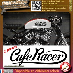 2 stickers autocollant cafe racer