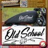 2 stickers autocollant old school bobber motorcycle custom choper
