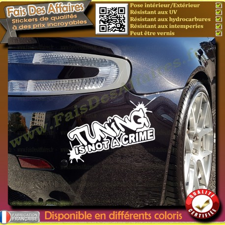 Sticker Autocollant Tuning is not a crime sponsor