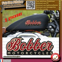 2 Stickers autocollant bobber motorcycles harley old school moto custom