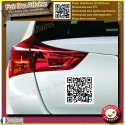 3 Stickers autocollant QrCode personnaliser adresse internet mail youtube etc...