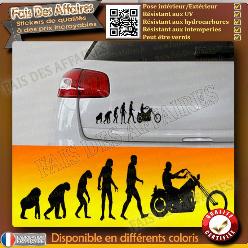 Stickers Autocollant motard à bord old school café racer