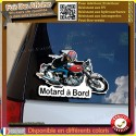 Stickers Autocollant motard à bord old school café racer